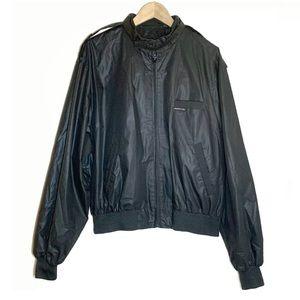 Members Only Black Cafe Racer Full Zip Jacket